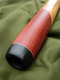wooden didgeridoo mouthpiece