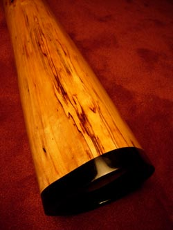 wooden didgeridoo bell